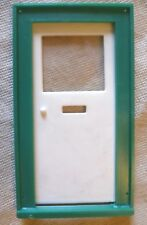 Vintage Dolls House DIY-Caroline's Home Half Plain Glazed Door & Green Frame #1