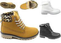 Damen Boots Stiefeletten flache Winterschuhe Weiss Schuhe Damenschuhe rutschfest