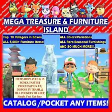 Treasure Island Catalog & Loot Any: Animal Crossing:New Horizons + HALLOWEEN