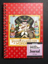 Mary Engelbreit Journal Too Much Of A Good Thing Is Wonderful Cat Cherries 2005