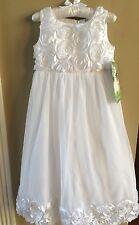 Girls Keepsake Sleeveless Soutache Communion Dress Size 7 NEW