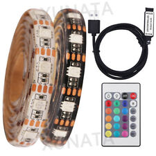 5V USB 5050 RGB LED Strip Light Waterproof Strips Flexible Tape Rope+Controller