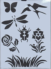 Plastic/PVC/Coated/Paper/Stencil/Multi/Bird/Butterfly/Dragonfly/Rose/Design/NEW
