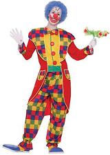 ADULT MULTIPLE COLORED CLOWN TUXEDO COSTUME FM64756