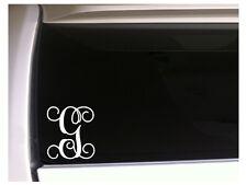 """Letter G Initial Monogram vinyl sticker car decal 5"""" L7 Gift Vine Name"""