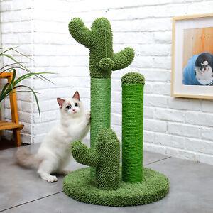 Cactus Cat Scratching Posts Pole Tree Kitten Climbing Scratcher Furniture Toys