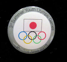 BUENOS AIRES 2018 YOG Olympic Games JAPAN NOC Team Delegation Rare Pin