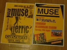 MUSE - UK tour concert gig posters x 2 - Exeter + Edinburgh