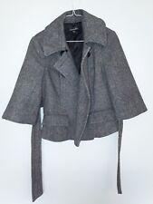 Bebe Brand Black/White Color Women's Wool Jacket - Sz: (U.S.) S
