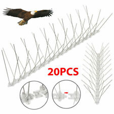20 Pcs (Bird Spikes) X 50 CM Wall Fence PP Bird Repeller Deterrent Fence Spike