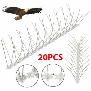Pack of 20 Pcs (Bird Spikes)  Wall Fence PP Bird Propeller Deterrent Fence Spike