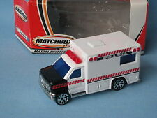 Matchbox Ford Ambulance Medic White Body Boxed Rescue 70mm Toy Model Car