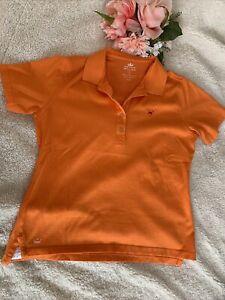 Peter Millar NWOT Short Sleeve Polo Coral Shirt Golf SZ Large