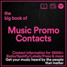 The BIG BOOK of Music Promo Contacts // 13000+ Key Industry Business Details