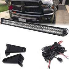 2002-2008 Dodge Ram Commercial Bull Bar 40'' Hidden Bumper  Led Light Bar+Wire