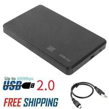 2.5'' USB 2.0 SATA Hard Drive Disk HDD/SSD External Enclosure Caddy Case for PC