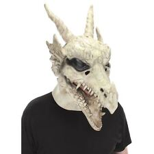 Dragon Skull Mouth Mover Latex Halloween Costume Accessory Mask White Walker