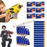 Kids Pistola De Juguete Bullet Dardos De Espuma Suave Cabeza Nerf N-strike