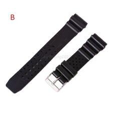 18mm-20mm-22mm Correa Reloj goma  Pulsera rubber Watch Band Strap