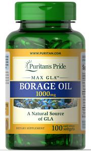 Puritan's Pride Borage Oil 1000mg 100 Softgels