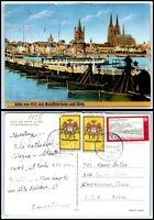 GERMANY Postcard - Koln Am Rhein um 1913 mit Schiffsbrucke und Dom AZ1