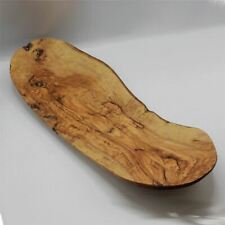 Olive wood tapas serving platter curved dish plate hand made