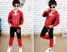Cool boy's spring and autumn role play the season spider-man suit hoodie suit