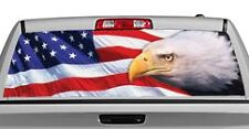 Truck Rear Window Decal Graphic [Patriotic / Eagle Eye] 20x65in DC24603