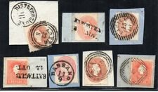 1860´s ITALY LOMBARDY-VENETIA RARE CANCELS STAMPS LOT ON FRAGMENTS !!