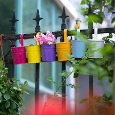 10Pcs Iron Hanging Balcony Garden Plant Flower Pot Home Decor