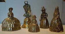 5 Set Lot Of Bronze Bells Made In England Free Shipping Very Heavy Bells