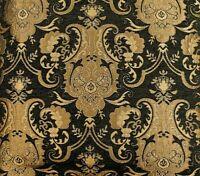 Chenille for  Upholstery & Drapery Fabric  Damask Black J1
