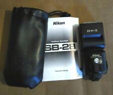 Nikon SB-28 Speedlight Flash Unit w/ manual and case - FREE US SHIPPING