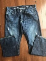 Mens Express Slim Low Rise Bootcut Rocco Jeans Size 33 X 32