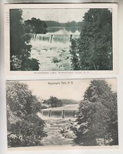 2 VINTAGE POSTCARDS - WAPPINGERS LAKE & FALLS - WAPPINGERS FALLS NY