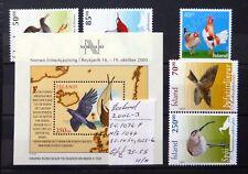 ICELAND 2002/3 Birds As Described U/M NB3443