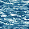 100% Cotton Patchwork Fabric Nutex Sea Ocean Waves Nautical