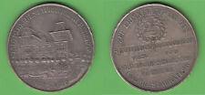 Stadtpark Restauration Nürnberg 1885-10 Reklamemarke Medaille versilbert Gebäude