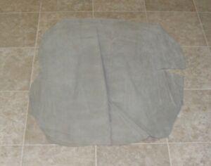 (RXE7377-4) Hide of Grey Green Pig Suede Leather Hide Skin