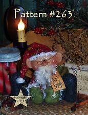 Primitive Patti's Ratties Mr. Kringle Santa Ornie Doll Paper Pattern #263