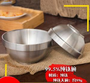 TA1 Pure Titanium Double layer Tea Rice Bowl Teacup Wine Glass Anti scalding