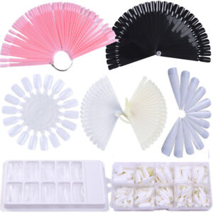 Fals Nail Tips Colour Pop Sticks Display Fan Practice Color Card Plates Tool