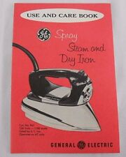 Owners Manual Ge Spray Steam And Dry Iron F61 Use and Care Book Only No Iron