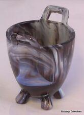Sowerby Victorian Purple Amethyst Slag Glass Pot marked 1880's