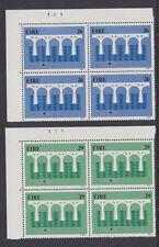 IRELAND, Scott #592-593: Top Plate Blocks(2), MNH - 1984 EUROPA