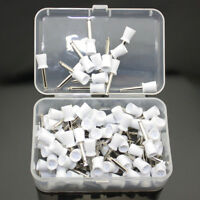 100 PCS Dental Latch Polisher Type Polishing Prophy Cup Tooth Bowl White Brushes