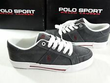 NIB Men Polo Sport Ralph Lauren Humberto Suede/Leather Big Pony Shoes 7 6 40 Gry