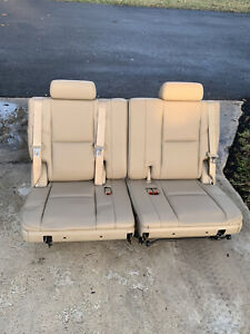 2007-14 Tahoe Suburban Yukon Escalade 3rd Third Tan Beige Leather Row Seats Vent