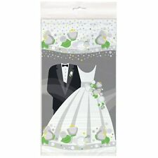 Wedding Evening Tableware Plastic Tablecloth - 54 x 84 inches