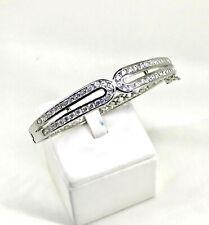 Cubic Zirconia 18K Thai White Gold Plated Filled Jewelry Bangle Bracelet Women